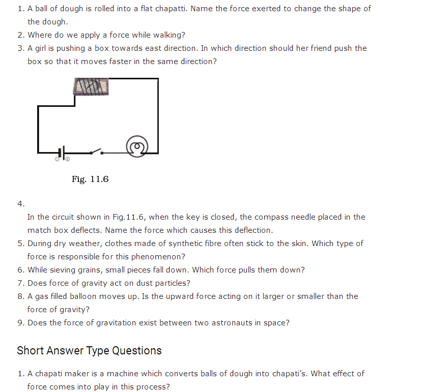 Important Questions For Class 8 Science Chapter 11 Force And Pressure