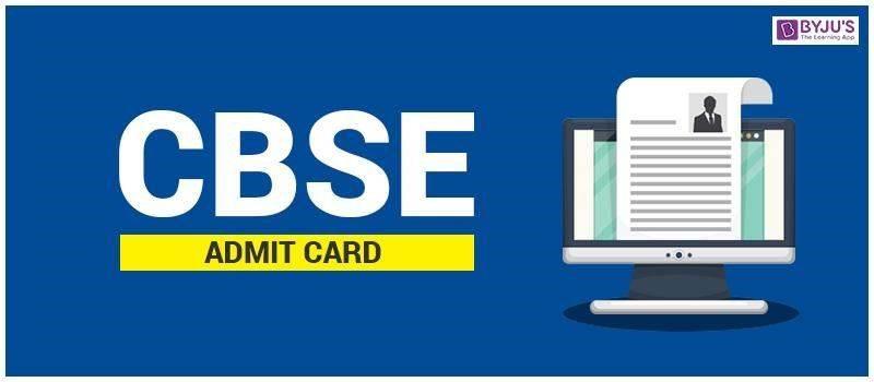 CBSE Admit Card