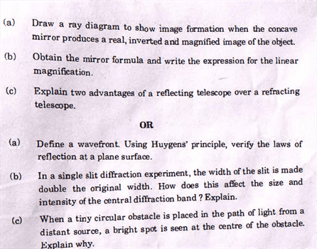 Question Paper Analysis Physics 36