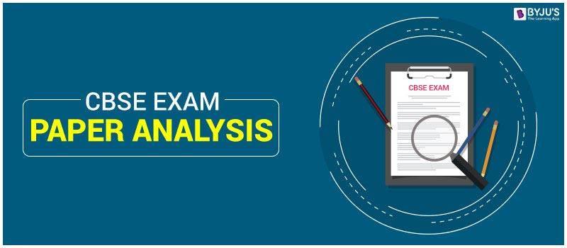CBSE Exam Paper Analysis 2020