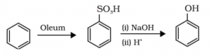 mechanism of preparation of phenol from benzene sulfonic acid