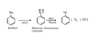 preparation of phenol from diazonium salt
