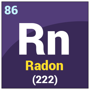 Image result for RADON ELEMENT = 86 Rn