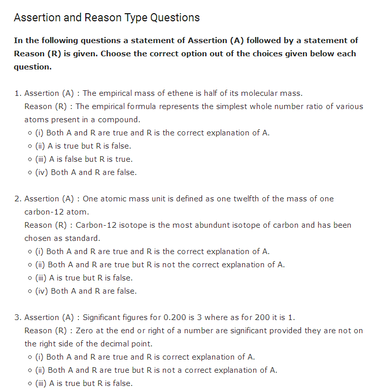 important questions class 11 chemistry chapter 1 basic concepts chemistry 3