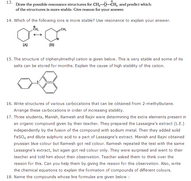 important questions class 11 chemistry chapter 12 organic chemistry basic principles technique 3