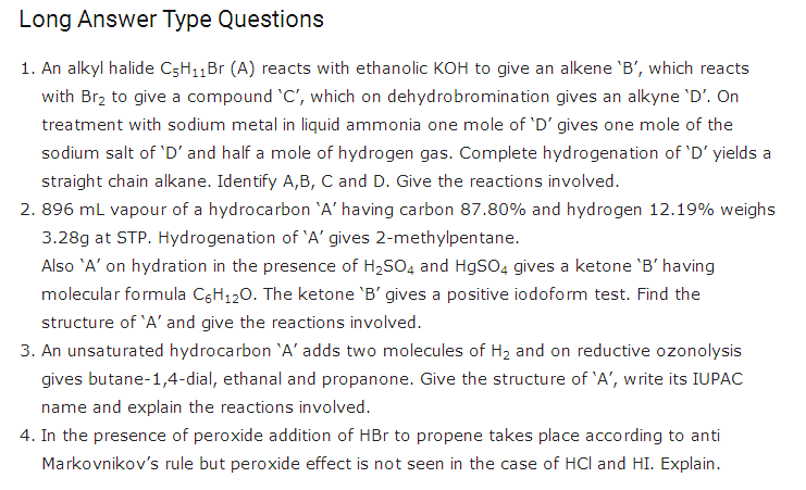 important questions class 11 chemistry chapter 13 hydrocarbons 4