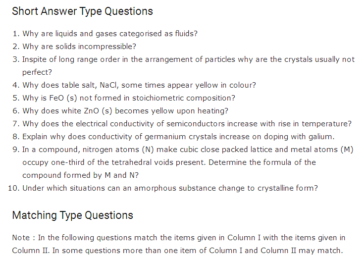 important questions class 12 chemistry chapter 1 solid state 1