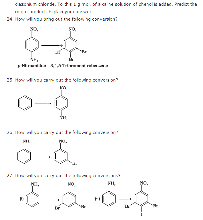Organic Compounds containing Nitrogen Chapter 13 Important Questions