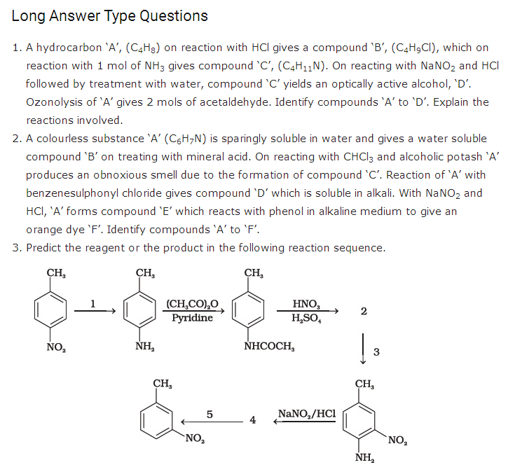 important questions class 12 chemistry chapter 13 organic compounds containing nitrogen 4