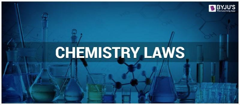 Chemistry Laws - List of Important Chemistry Laws, Gas Laws
