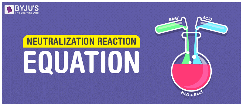Neutralization Reaction - Definition Examples & Applications