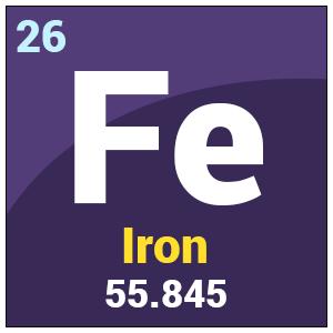 Iron Fe Atomic Mass Number