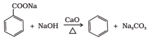 preparation of benzene from aromatic acids