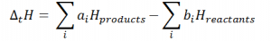 Enthalpy Change: Standard Enthalpy of Reaction
