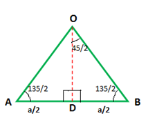 Area of an Octagon Using Triangles