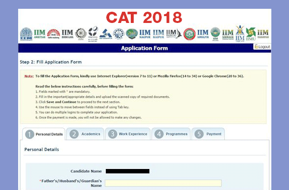 Step by Step Registration For CAT