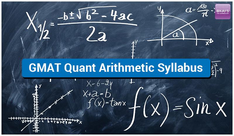 GMAT Arithmetic Syllabus