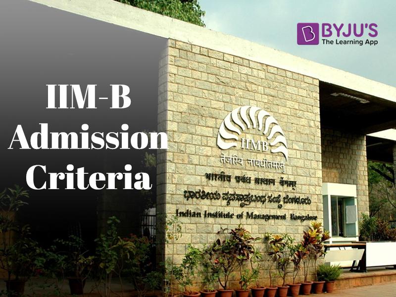 IIMB admission criteria