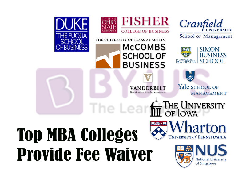 Top MBA Colleges That Provide Fee Waiver