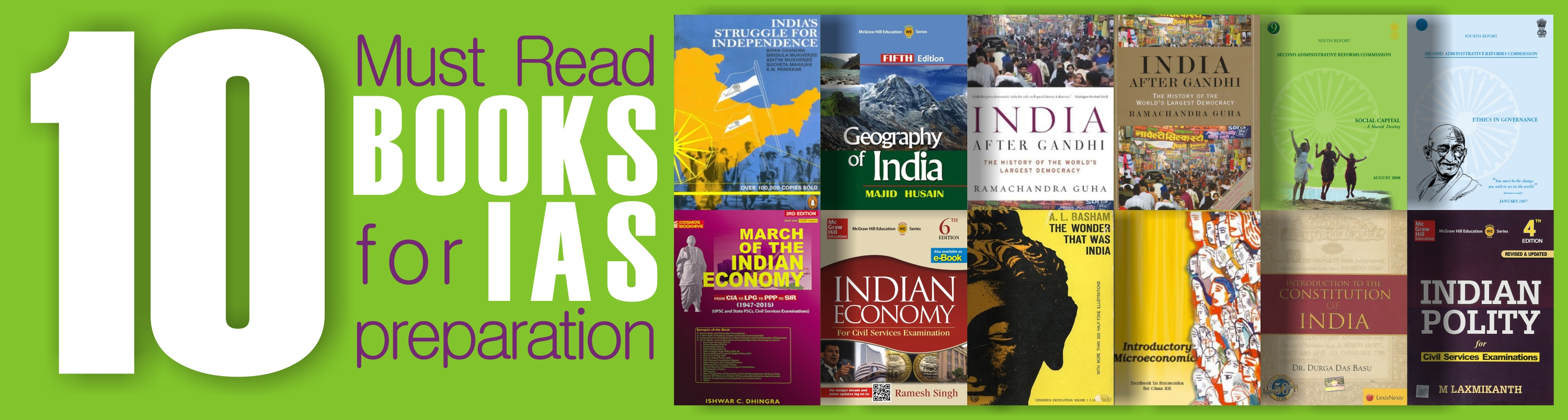 10 Most Important Books That Every IAS Aspirants Must Read for