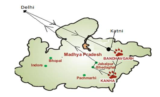 Route of Tiger Express