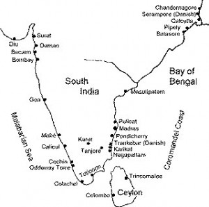 Map South India
