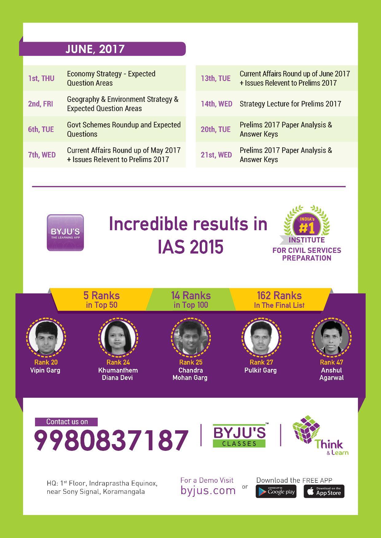 Current affairs foundation course IAS 2017