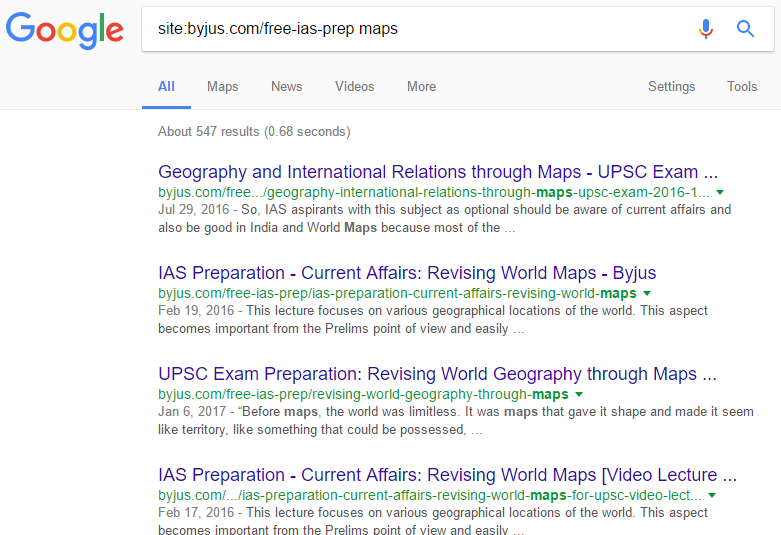 how to use site search