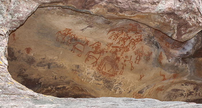 Upper Palaeolithic age - Paintings at Bhimbetka