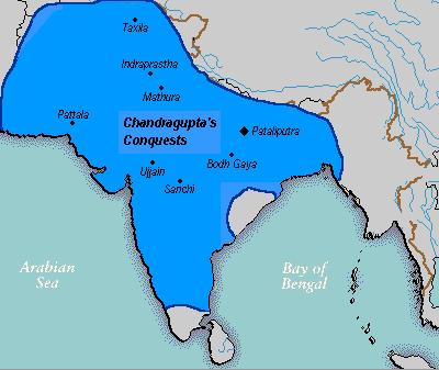 Mauryan Empire - Chandragupta Maurya's Conquests