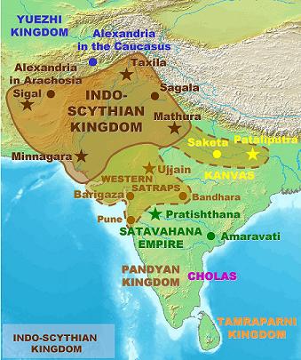 Saka Era | Shakas - Extent of the Kingdom