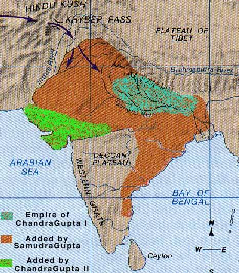 Gupta Empire - NCERT Notes on Gupta Empire| Gupta Empire's Territorial Extent