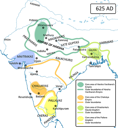 Extent of the Pallava dynasty