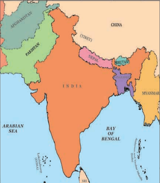 India Political Map - UPSC Geography 2021