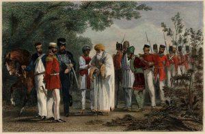 Bahadur Shah captured by the British