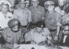 Indo-Pakistan War - Signing of the Instrument of Surrender