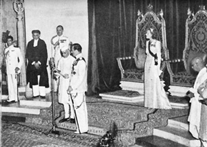Nehru being sworn in as India's Prime Minister