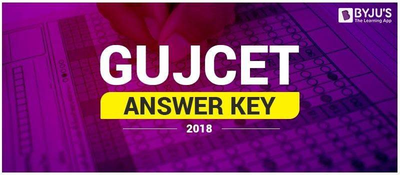 GUJCET Answer Key 2018