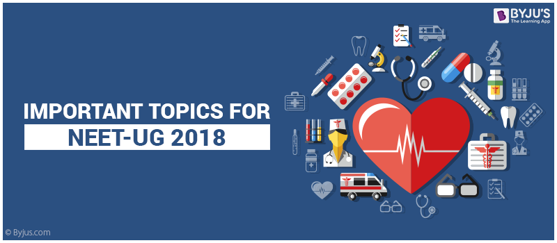 Important Topics for NEET-UG 2018