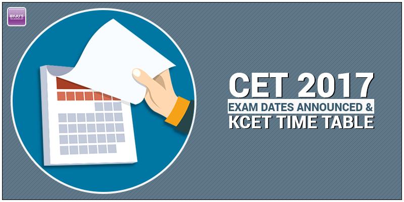 CET Exam Dates 2017