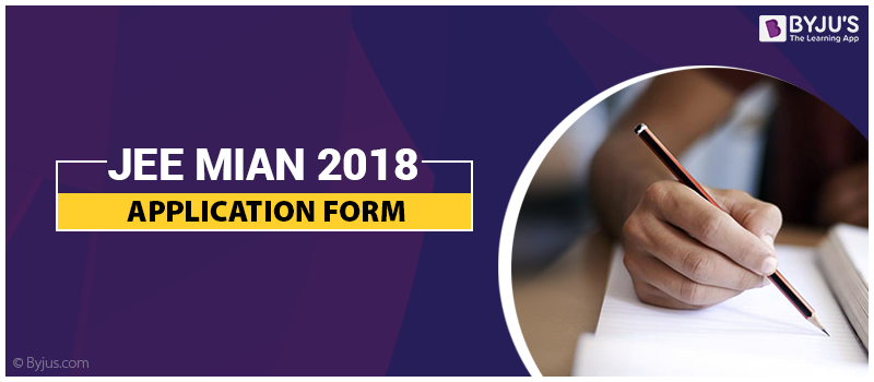JEE Mains Application Form