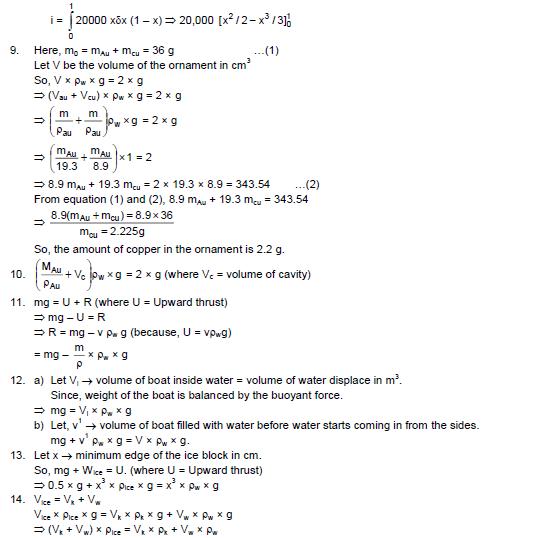 HC Verma Solutions Vol 1 Chapter 13 Fluid Mechanics - Download Free PDF