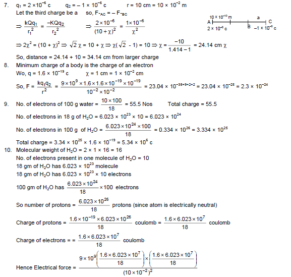 HC Verma Solutions Vol 2 Ch 7 Electric Field And Potential