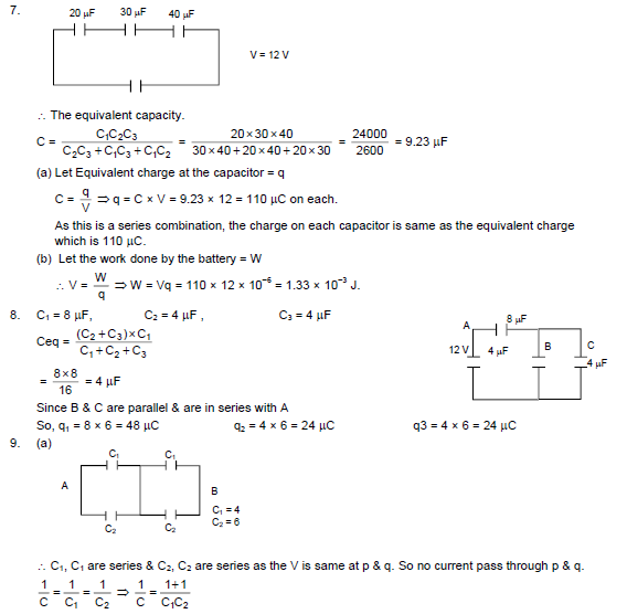 HC Verma Solutions Vol 2 Chapter 9 Capacitor - Download Free PDF