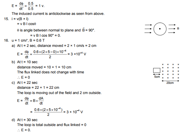 HC Verma Solutions Vol 2 Ch 16 Electromagnetic Induction