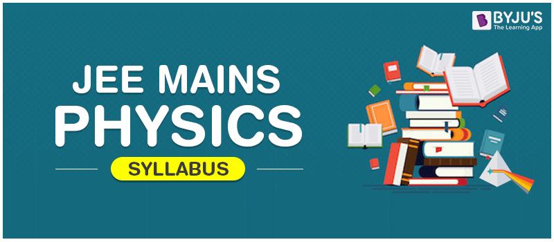 JEE Main Physics Syllabus