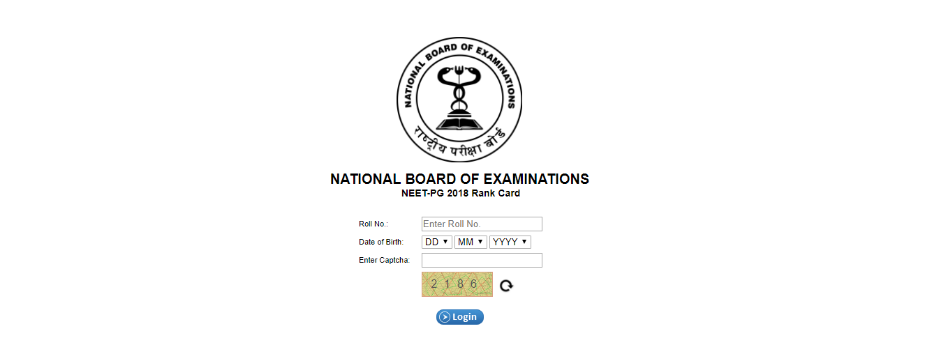 NEET PG 2018 Rank Card Released