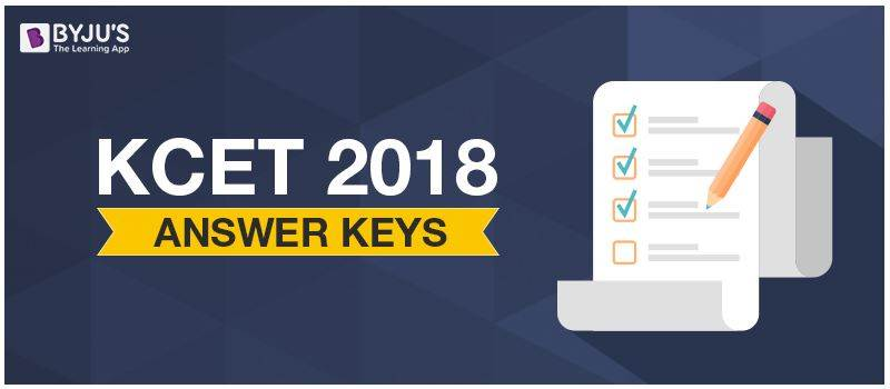 KCET 2018 Answer keys