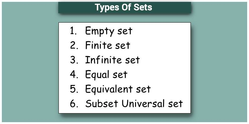 Types Of Sets