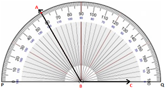 Constructing Angles Using a Protractor - step 4